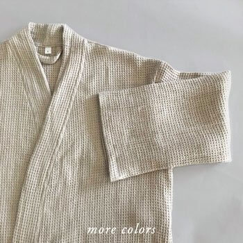 LUKINA LINEN WAFFLE ROBES