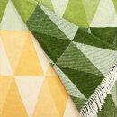 Anichini Pisa Washable Cotton Blend Throws in Greenish