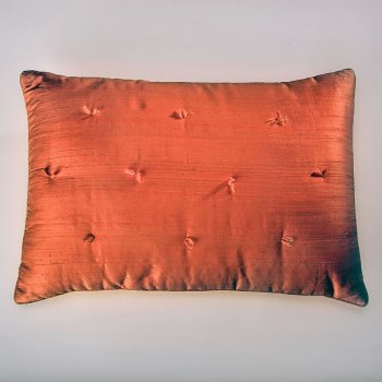 Anichini Sitara Brights Dupioni Silk Pillows In Copper