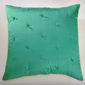 Anichini Sitara Brights Dupioni Silk Pillows In Lagoon