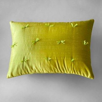 Anichini Sitara Brights Dupioni Silk Pillows In Kiwi