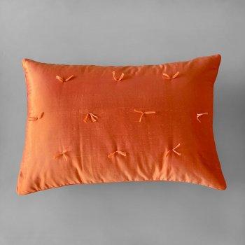 Anichini Sitara Brights Dupioni Silk Pillows In Orange