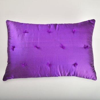 Anichini Sitara Brights Dupioni Silk Pillows In Purple