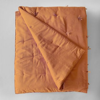 Anichini Sitara Silk Quilts In Deep Caramel