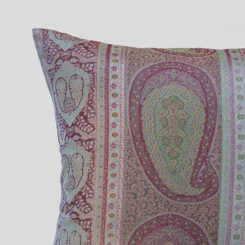 Anichini Taj Paisley Jacquard Pillows In Amethyst Aqua