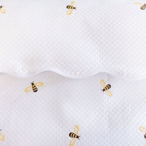 Anichini Bumblebee Embroidered Flannel Baby Bedding