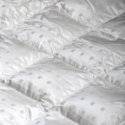 Anichini Caree Modern Squares Luxury Silk Covered Down Duvets Comforters