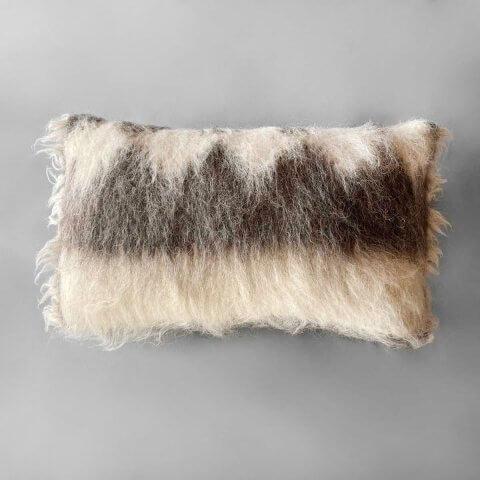 Anichini Diamond Handmade Brushed Wool Pillows