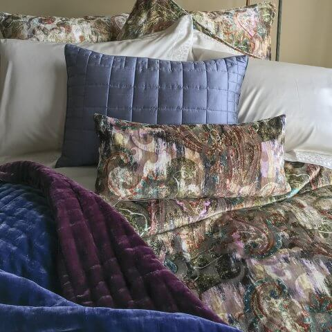 Anichini Sitara Dupioni Silk Pillows