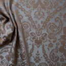 Anichini Lido Linen Jacquard Fabric By The Yard In Charcoal Cocoa