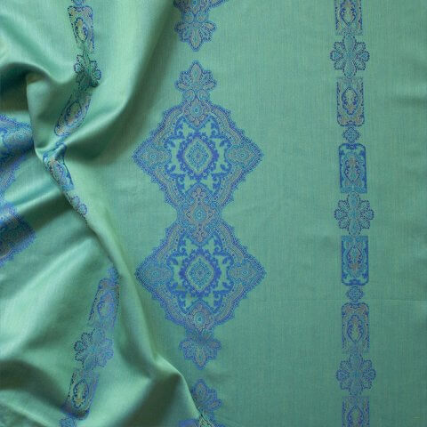 Anichini Persia 2.0 Jacquard Medallion Fabric By The Yard In Jade Green