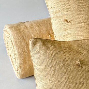 Anichini Rustic Hand Loomed Basketweave Silk Pillows & Quilts