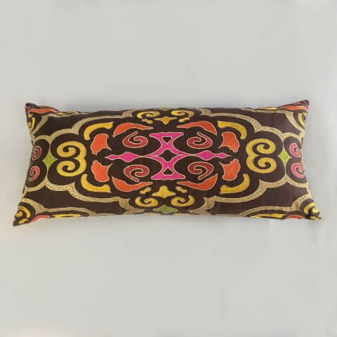 Anichini Pema Bright & Colorful Embroidered Global Design Pillows