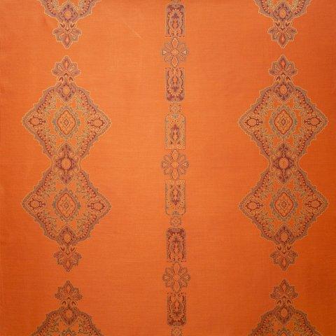Anichini Persia Luxury Medallion Pattern Quilts In Orange