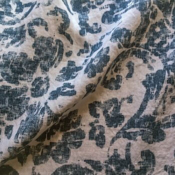 Anichini Yutes Collection June Floral Printed Linen Fabric