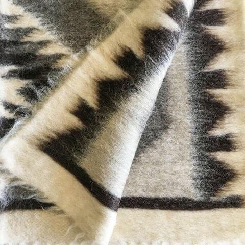 Anichini Ivory Diamond Trio Brushed Natural Wool Rugs