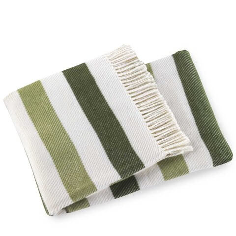 Sweet Stripe Washable Cotton Blend Throws | ANICHINI Hospitality