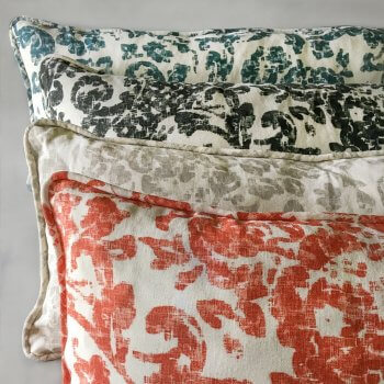 Anichini June Modern Floral Linen Pillows