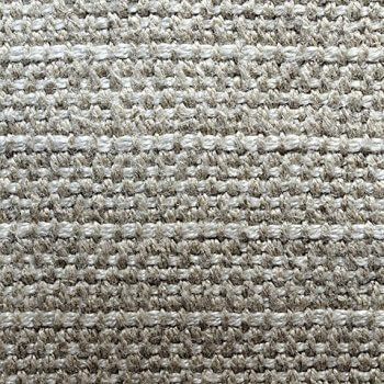Anichini Yutes Collection Barroco Striped Basket Weave Linen Fabric In Oatmeal