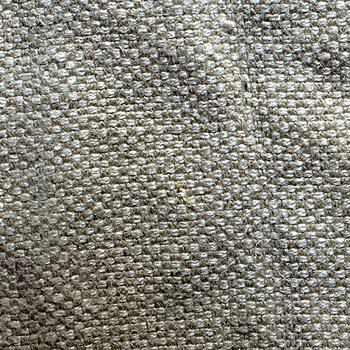 Anichini Yutes Collection Barroco Solid Basket Weave Linen Fabric In Oatmeal
