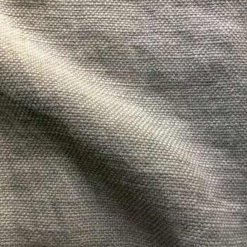 Anichini Yutes Collection Barroco Solid Basket Weave Linen Fabric In Silver