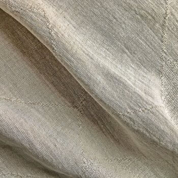 Anichini Yutes Collection Murs Diamond Pattern Linen Fabric In 01 Beige