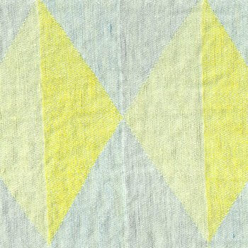 Anichini Yutes Collection Harlequin Diamond Jacquard Fabric In 04 Yellow Grey