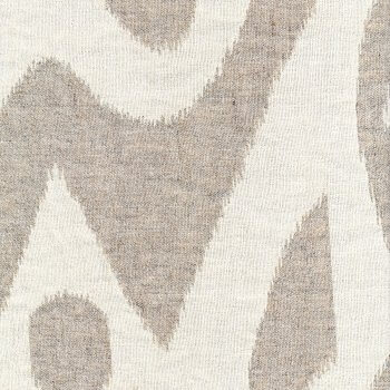 Anichini Yutes Collection Tokkat Super Large Ikat Linen Matelassé Fabric