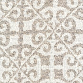 Anichini Yutes Collection Tokkat Tile Design Linen Matelassé Fabric