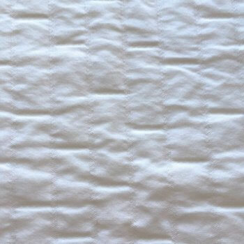 Anichini Yutes Collection Verona Brick Pattern Matelasse Fabric In 11 White