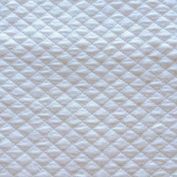 Anichini Yutes Collection Verona Small Diamond Pattern Matelasse Fabric In 31 White