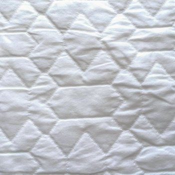 Anichini Yutes Collection Verona Zig Zag Tile Pattern Matelasse Fabric In 01 White