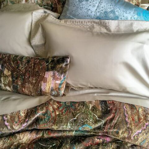 Anichini Wallis Italian Sateen Jacquard Sheeting