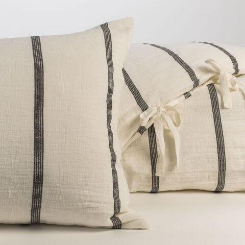 Anichini Valdas Striped Linen Duvet Covers And Cases