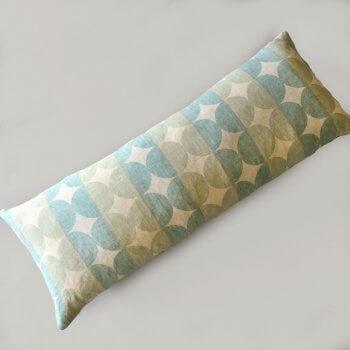 Anichini Contorno Linen Circle Pattern Decorative Pillows In