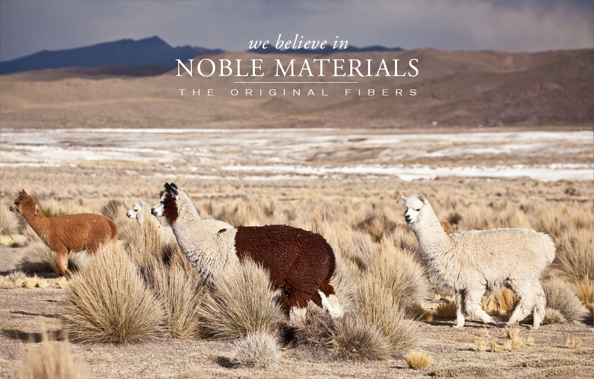 ANICHINI believes in Noble Materials - The Original Fibers