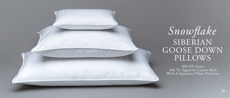 Anichini Snowflake Luxury Siberian Goose Down Pillows