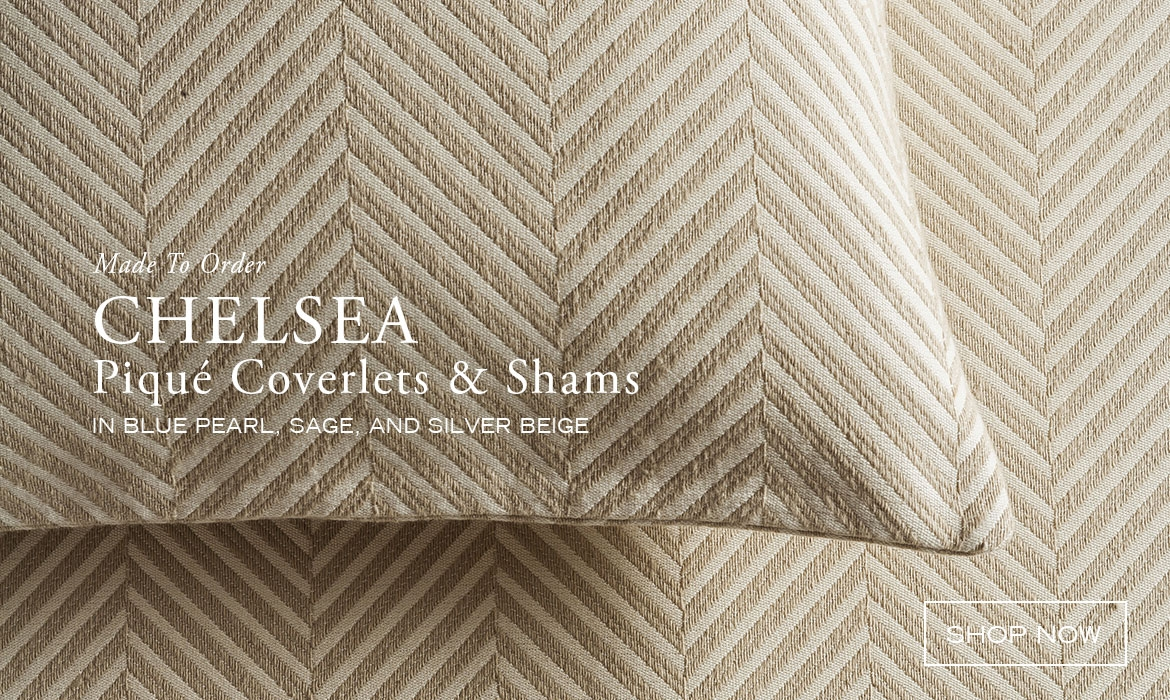 Modern And Traditional Herringbone Piqué Coverlets And Bedcovers