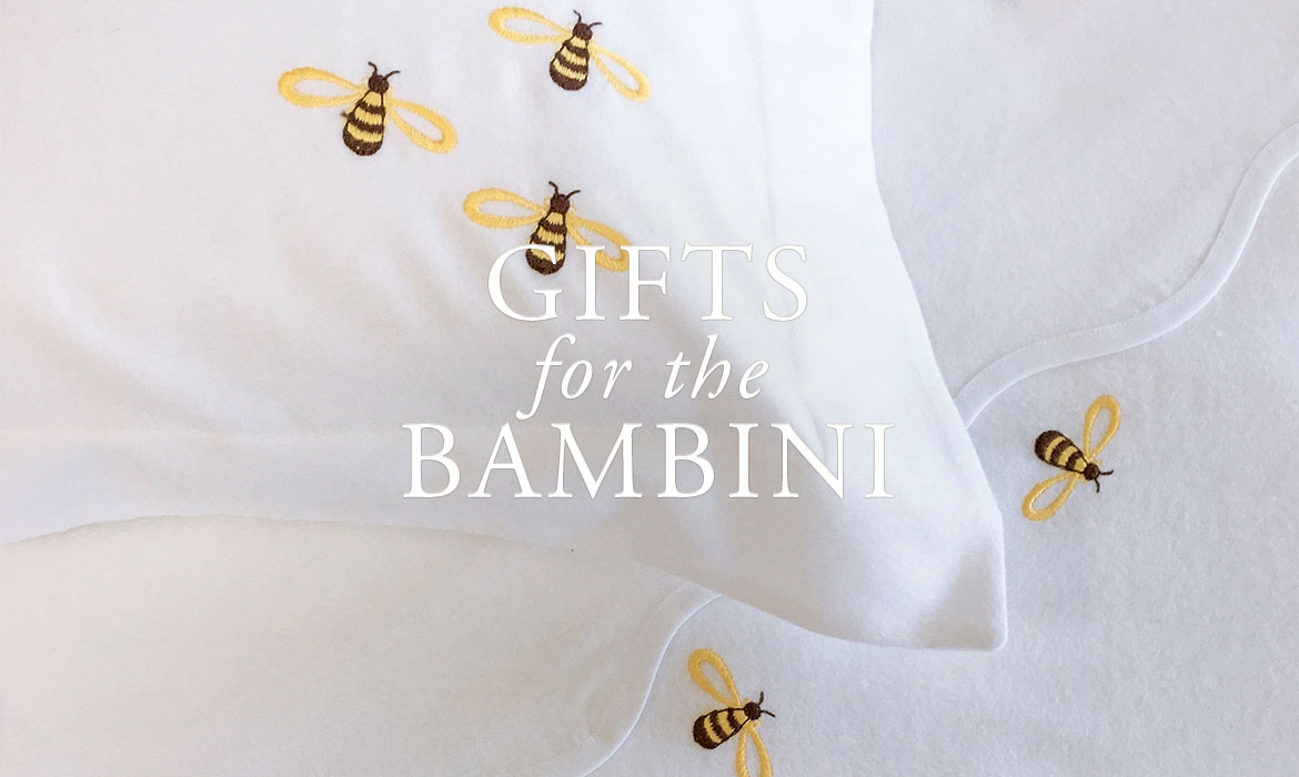 Gifts For The Baby - Embroidered Baby Bedding