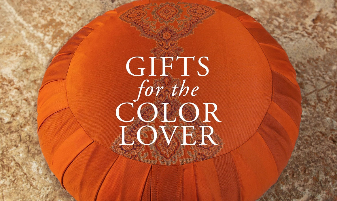 Gifts For The Color Lover - Bright And Colorful Meditation Pillows