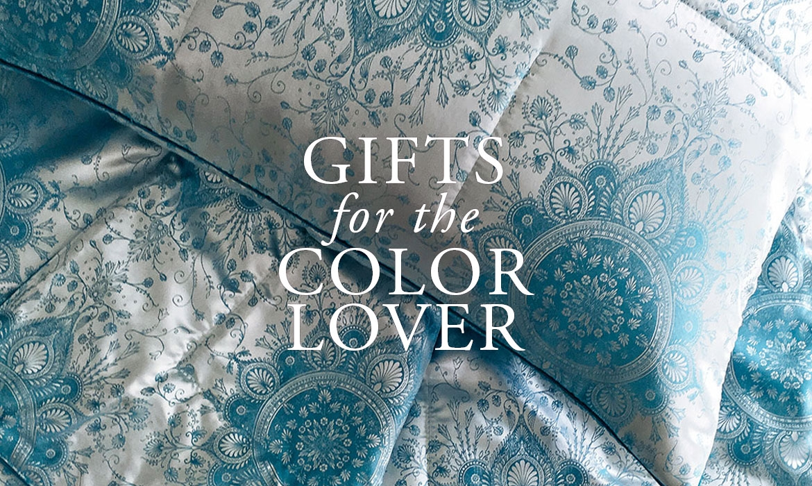 Gifts For The Color Lover - Blue Medallion Silk Throws And Pillows