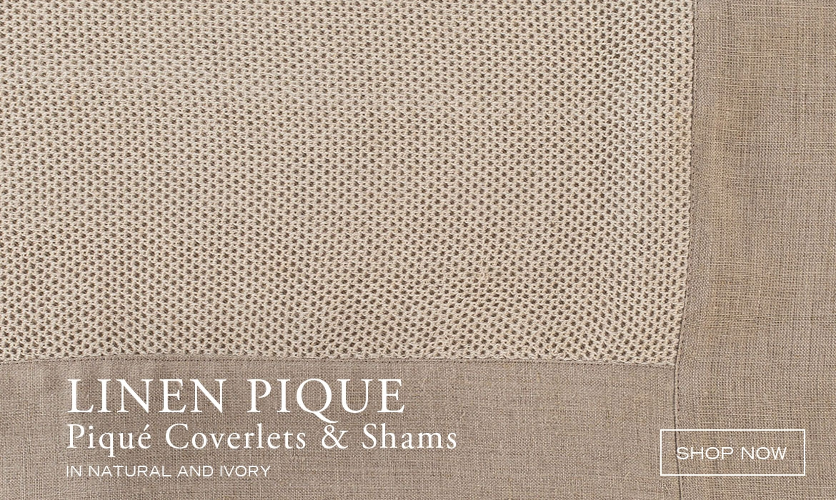 Modern And Traditional Linen Piqué Coverlets And Bedcovers