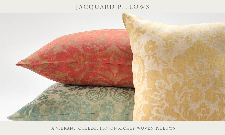 Lido Floral Linen Jacquard Decorative Pillows