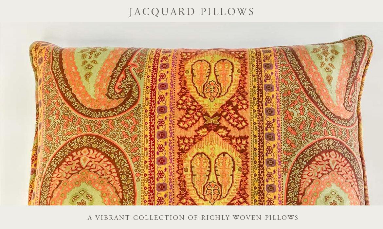 Contorno Linen Jacquard Decorative Pillows