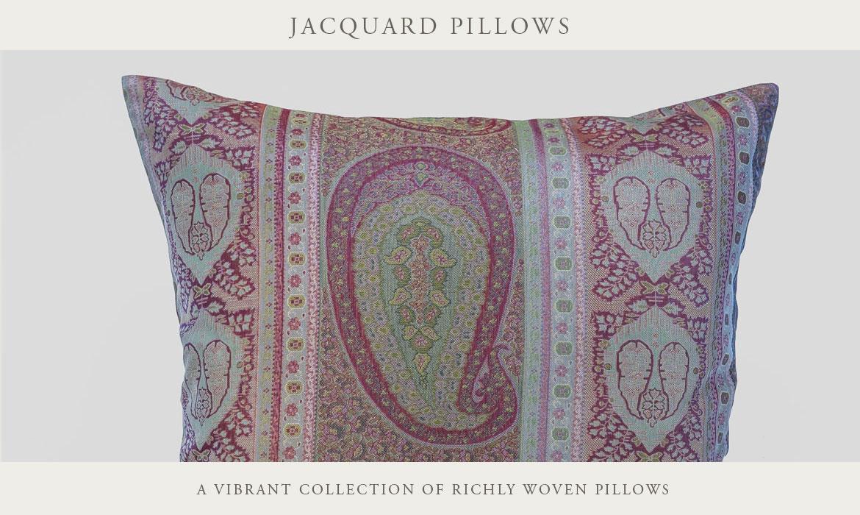 Taj Paisley Jacquard Decorative Pillows