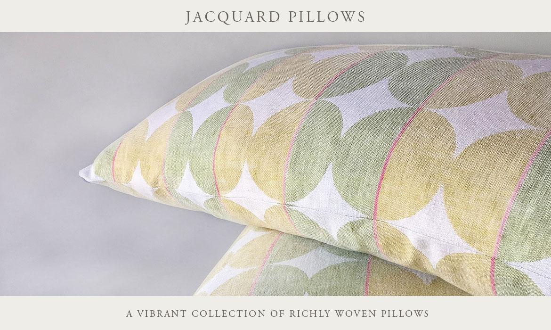 Taj 2.0 Paisley Jacquard Decorative Pillows