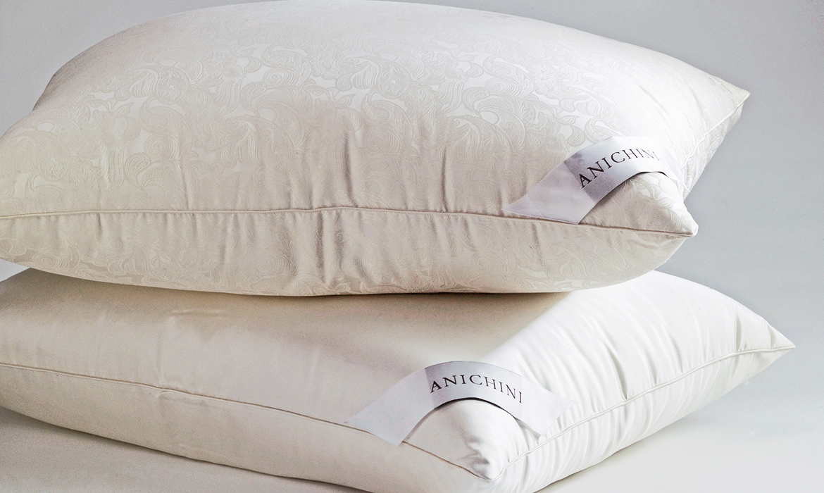 Anichini Via Sete Silk Covered Siberian Goose Down Pillows and Duvets