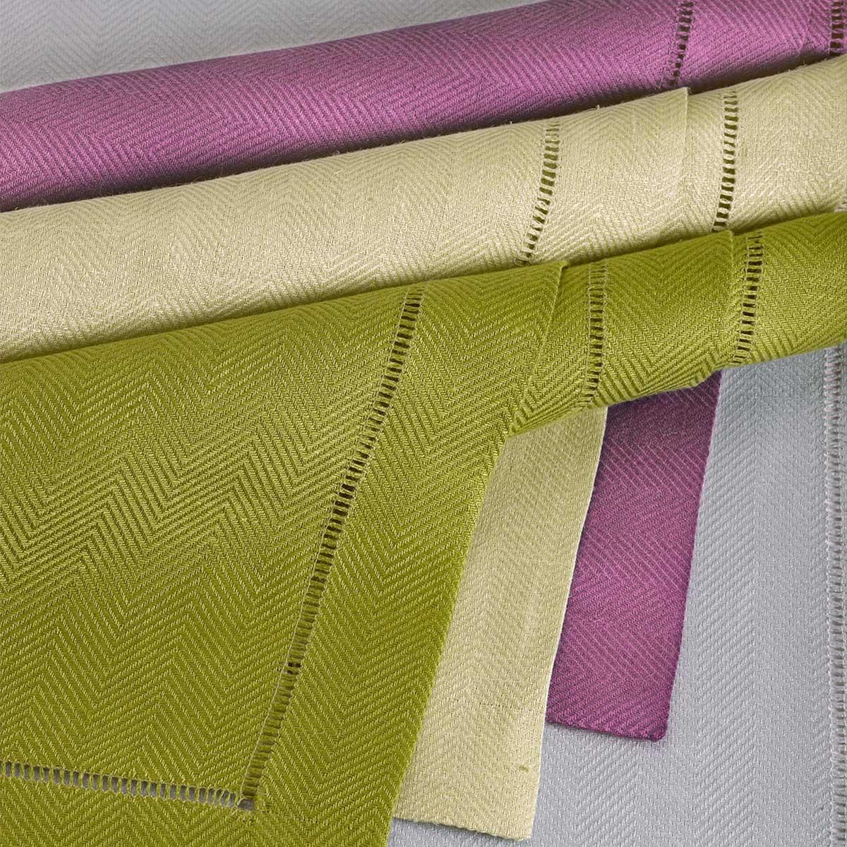 Nobel Herringbone Linen Table Linens