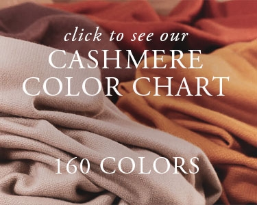 See our cashmere color chart with 160 colors of custom cashmere blankets and throws