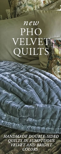 Anichini Pho Collection Velvet Quilts